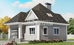 135-001-L Two Story House Plans with mansard roof with garage under, the budget Models Plans,