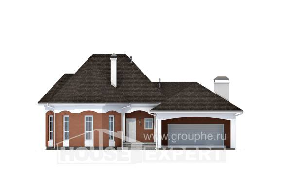 180-007-R Two Story House Plans with mansard roof and garage, available Building Plan