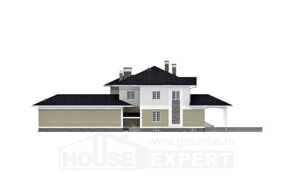 620-001-L Three Story House Plans with garage in front, cozy Architect Plans,
