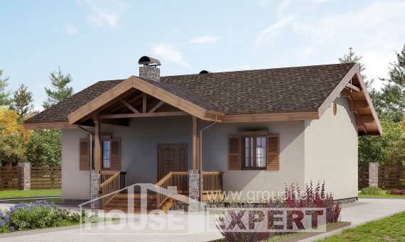 090-002-L One Story House Plans, small Custom Home Plans Online, House Expert