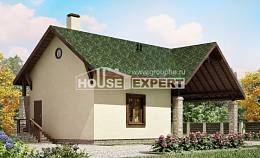 060-001-L Two Story House Plans with mansard roof with garage, inexpensive Home House,