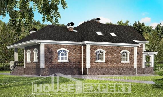 490-001-R Three Story House Plans with mansard roof with garage, cozy House Plan