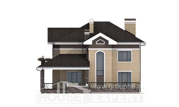 200-006-R Two Story House Plans, average Plans Free, House Expert