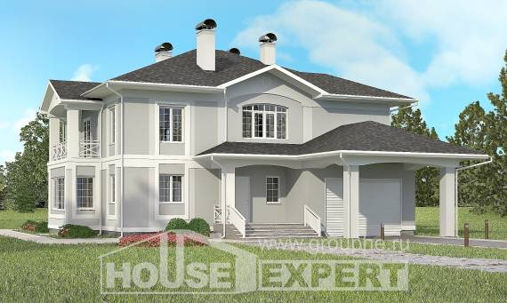 360-001-R Two Story House Plans and garage, modern Custom Home,