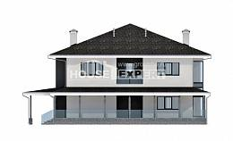 245-002-R Two Story House Plans and garage, average Home House,
