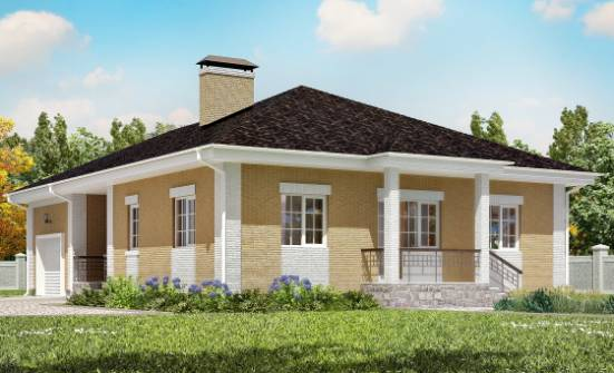 130-002-L One Story House Plans with garage, economical Architect Plans, House Expert