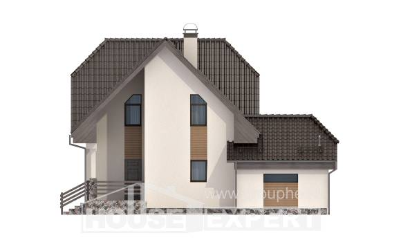 150-001-L Two Story House Plans with mansard roof with garage under, classic House Online, House Expert