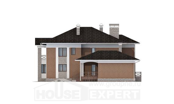 520-002-L Three Story House Plans with garage under, a huge Design Blueprints