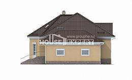 400-001-R Three Story House Plans with mansard roof with garage under, spacious House Blueprints,