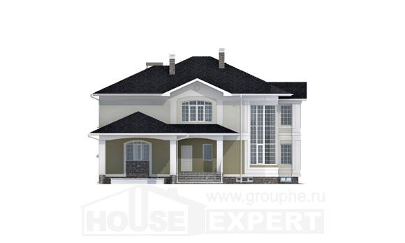 620-001-L Three Story House Plans with garage in back, big Home Blueprints, House Expert