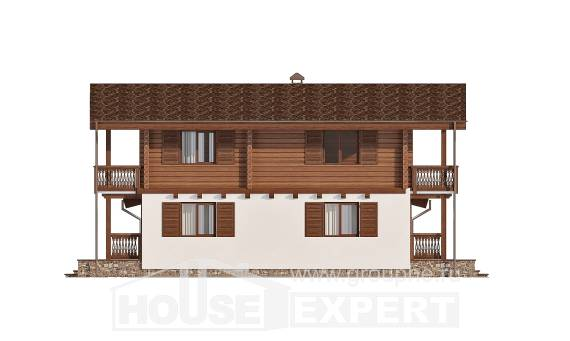 200-011-R Two Story House Plans and mansard, average Design House, House Expert