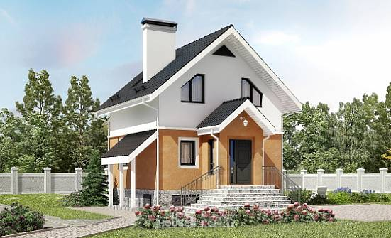 100-005-L Two Story House Plans with mansard, inexpensive Cottages Plans,