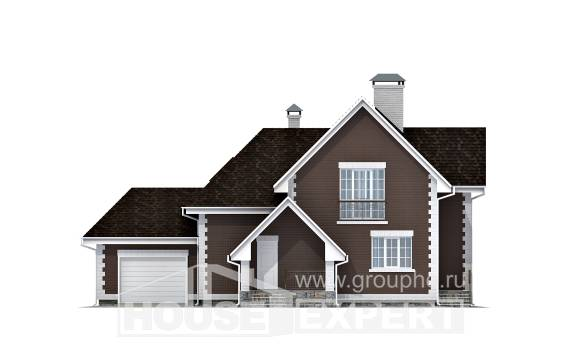 190-003-L Two Story House Plans and mansard with garage, best house Home House,