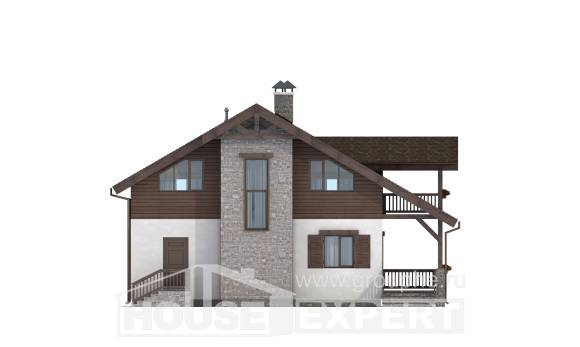 150-004-L Two Story House Plans with mansard, economical Ranch,