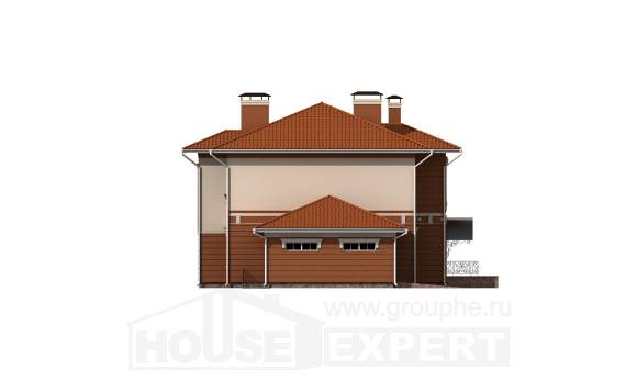 285-001-L Two Story House Plans with garage under, a huge Models Plans,