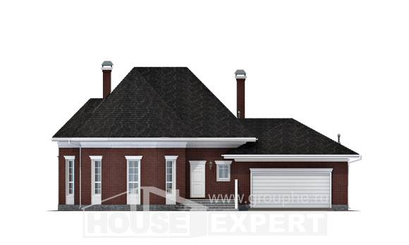 290-002-R Two Story House Plans with garage in front, best house Architect Plans, House Expert