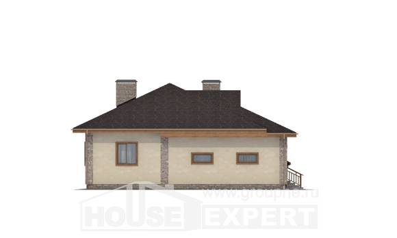 130-006-L One Story House Plans and garage, a simple Timber Frame Houses Plans,