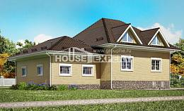 400-001-R Three Story House Plans with mansard roof with garage, classic Architects House, House Expert