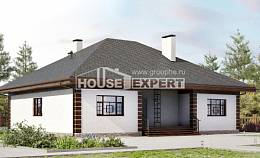 135-003-R One Story House Plans, small House Plan, House Expert