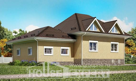 400-001-R Three Story House Plans with mansard roof with garage under, beautiful Floor Plan,