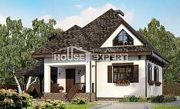 110-002-L Two Story House Plans with mansard roof with garage under, the budget Home Plans,
