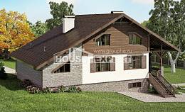 300-003-R Three Story House Plans with mansard roof with garage in back, cozy Architectural Plans,