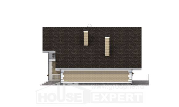190-005-R Two Story House Plans with mansard roof and garage, luxury Home House,