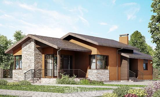 130-007-R One Story House Plans, modest Blueprints of House Plans,
