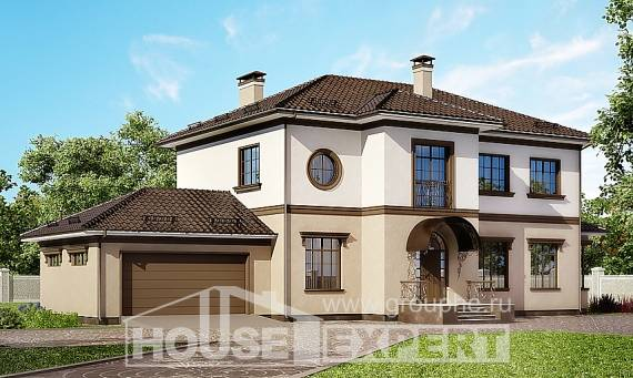 290-004-L Two Story House Plans with garage in front, big House Online,