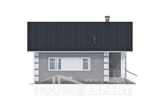 115-001-L Two Story House Plans and mansard, a simple Floor Plan,