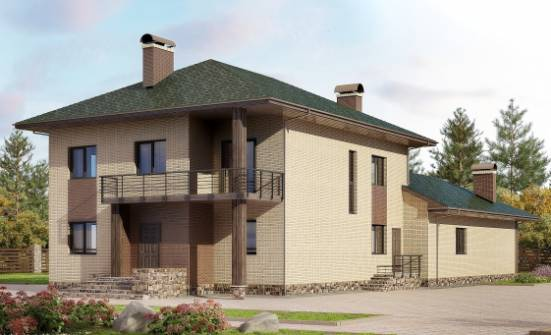305-003-R Two Story House Plans, a huge Villa Plan, House Expert