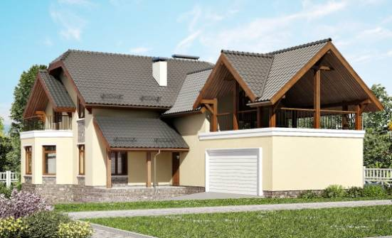 255-003-R Two Story House Plans with mansard roof with garage under, a huge Blueprints of House Plans, House Expert