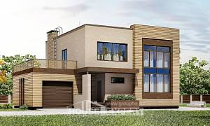 220-003-L Two Story House Plans with garage in back, average Planning And Design