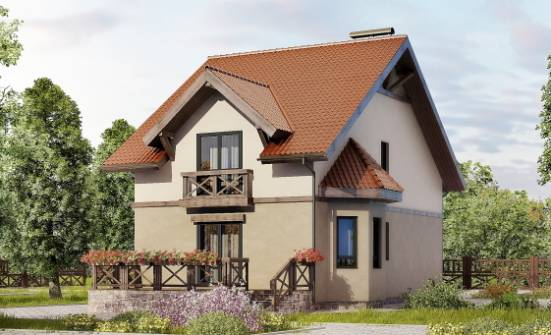 120-003-L Two Story House Plans with mansard roof, modern Cottages Plans, House Expert