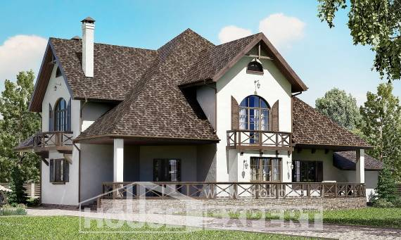 350-001-L Two Story House Plans and mansard with garage, beautiful Dream Plan,
