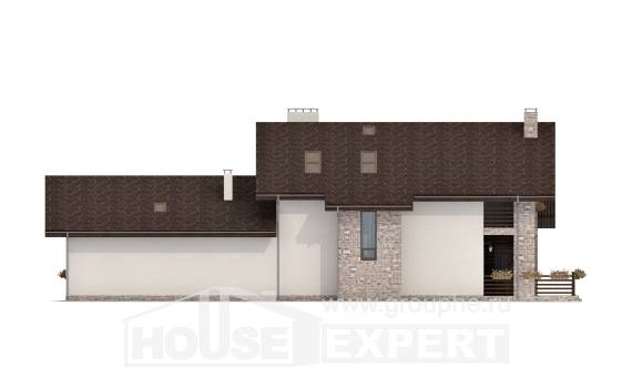 480-001-L Two Story House Plans with mansard, big Timber Frame Houses Plans, House Expert