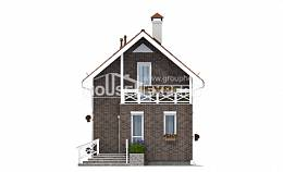 045-001-L Two Story House Plans with mansard, classic Models Plans,