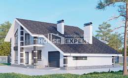 190-008-R Two Story House Plans and mansard with garage in front, best house Dream Plan, House Expert