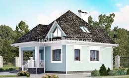 110-001-L Two Story House Plans with mansard roof, inexpensive Models Plans,