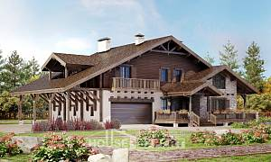 340-003-R Two Story House Plans with mansard roof with garage in back, beautiful Home Blueprints