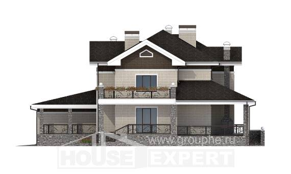 365-001-L Two Story House Plans with garage under, modern House Plans