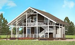 080-001-R Two Story House Plans with mansard roof, inexpensive Dream Plan,