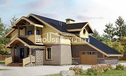 180-011-R Two Story House Plans and mansard with garage, beautiful Architectural Plans,