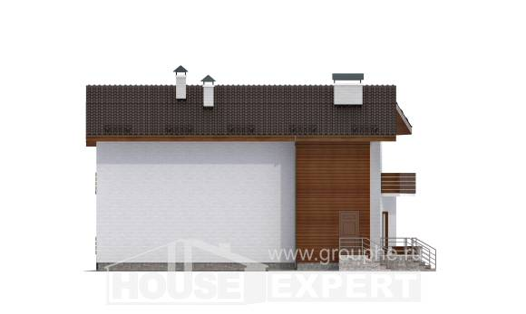 180-009-R Two Story House Plans with mansard, available Architects House,