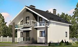 150-005-L Two Story House Plans with mansard, best house Drawing House