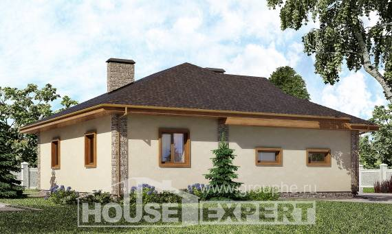130-006-L One Story House Plans with garage, economical Woodhouses Plans,