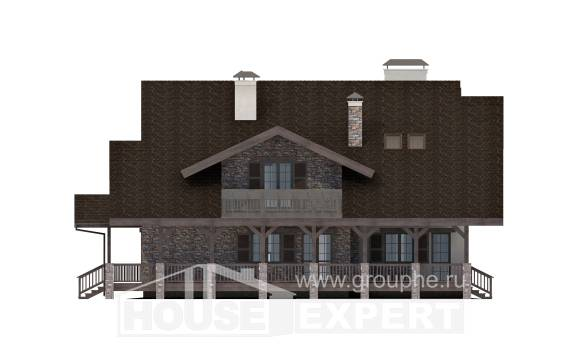 320-001-R Two Story House Plans with mansard roof with garage in back, beautiful Blueprints of House Plans,