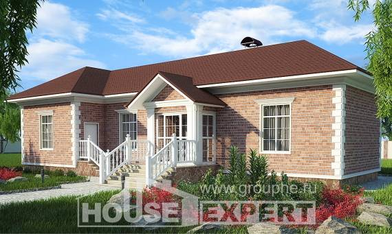 090-001-L One Story House Plans, best house Villa Plan, House Expert