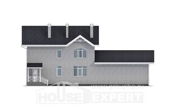 340-004-R Two Story House Plans, big Ranch,