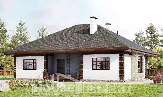 135-003-R One Story House Plans, modest Drawing House, House Expert